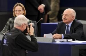 Мартони и заместничката му Енико Дьори, която отговаряше за вразките с парламента. Снимка: Европейски парламент