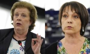 Катрин Тротман и Силви Гийом. Снимки: Европейски парламент