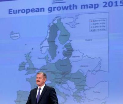 В остъствието на взелия отпуска заради изборите икономически комисар Оли Рен, прогнозата на Еврокомисията беше представена от заместилия го транспортен еврокомисар Сим Калас. Снимка: Европейска комисия