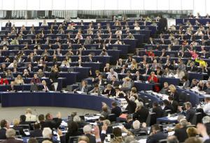 European Parliament hemicycle in Strasbourg